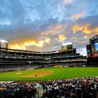 The sun sets over Citi Field during the fifth inning of a game between the New York Mets and the St. Louis Cardinals. St. Louis won 9-2.