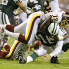 Smith sacks Vinny Testaverde in a Jets-Redskins contest on Sept. 4.