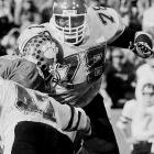 The young Smith recorded 71 tackles for loss, amounting to 504 yards lost for opponents. Smith was awarded the Outland Trophy, an award for the top lineman in the nation.