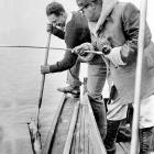 Gehrig and Ruth fishing in Dec. 1938.