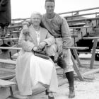 Gehrig poses with his mother.