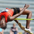 Sharon Day captured the heptathlon title, and won the high jump when she cleared 6 feet, 2.75 inches.