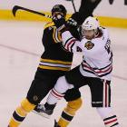 Defenseman Duncan Keith's Blackhawks withstood the Bruins' heavy, physical game in what proved to be a bruising series.