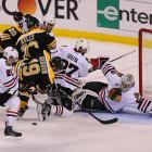 """Blackhawks goaltender Corey Crawford was overshadowed by Boston counterpart Tuukka Rask for much of the series, but after a shaky 6-5 Game 4 win in which he was beaten five times to the glove-hand side, he rose to the occasion in the final two matches. In Game 6, he made 23 saves. """"I still can't believe that finish. Oh my God, we never quit,"""" he said. """"I never lost confidence. No one in our room ever did."""""""