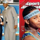 Denver selected Carmelo Anthony, fresh off an NCAA tournament victory, with the third pick. During his time with the Nuggets, Anthony became the second youngest player to score both 30 and 40 points in a game (second to Kobe Bryant and LeBron James, respectively), as well as the second youngest player to score 5,000 points (behind James). Anthony scored almost 14,000 points for Denver, leading it to the playoffs for seven consecutive years before being traded to the Knicks in February 2011.