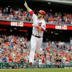 On his first swing back from a knee injury that sidelined him for over a month, Bryce Harper hit a curtain-call home run on July 1.