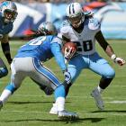 In 2012, the Titans became the first team in NFL history to score five touchdowns of 60-plus yards in the same game. Amazingly, Chris Johnson wasn't the hero on any of them in Tennessee's 44-41 overtime victory over Detroit. In fact, on his 27th birthday, it took the mercurial running back 14 attempts to amass his 24-yard total that day -- an average of 1.7 yards per carry.