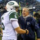 Mark Sanchez might just as well want to forget his 22nd birthday. In his first NFL game with his former college coach on the opposite sideline, Sanchez completed only 9 of 22 passes for 124 yards with one interception, one lost fumble and no TDs as the Jets lost 24-7 to Pete Carroll's Seahawks. (<italics>We're almost certain Carroll is saying,</italics> <italics>See, I told you you weren't ready yet, son.</italics>)