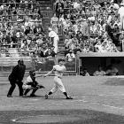 Roger Maris passed Babe Ruth's single-season record of 60 home runs with this solo shot off Boston's Tracy Stallard at Yankee Stadium. It was the only run of the game. Maris would never hit more than 33 home runs in a season again.