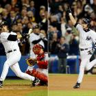 Pedro Martinez couldn't hold leads of 4-0 and 5-2, and Boston couldn't score against Mariano Rivera in Game 7. Enter Aaron Boone, who set off bedlam in the Bronx with a leadoff home run in the 11th inning off Tim Wakefield to give New York a 6-5 victory and its 39th American League pennant.