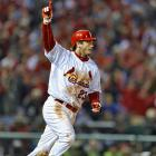 After David Freese's improbable, ninth-inning, game-tying triple in Game 6 of the World Series, two innings later, he hit a jaw-dropping, 11th-inning walk off home-run that sent the Comeback Cards on their way to a title.
