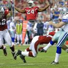 In Adriann Wilson's first Birthday Game, back in 2003, his Cardinals lost 26-18 to Baltimore. But his teammates enabled him to enjoy his 29th birthday when Sean Morey blocked this Mat McBriar punt in overtime and Monty Beisel (52) returned the ball three yards for a touchdown in the 30-24 home win over Dallas.