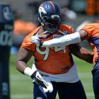 The 27-year-old Knighton endured a frustrating and disappointing 2012 in Jacksonville, only to land a two-year contract from the Broncos in the offseason. He's expected to be part of an upgraded interior of Denver's defensive line, which also includes rookie Sylvester Williams. Knighton's two best seasons with the Jags (2010, '11) came under current Broncos defensive coordinator Jack Del Rio.