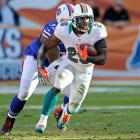 Reggie Bush totaled nearly 1,300 yards out of the Dolphins' backfield last season, so he left a void by departing for Detroit. Miller is first in line to pick up the slack, and he has a chance to bust out in his second NFL season. An upgraded passing attack, with Mike Wallace and Brandon Gibson, should help free up some space.
