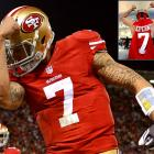 Kaepernick's No. 7 jersey was the NFL's top-selling jersey from April 1 to June 30 on NFLShop.com.