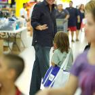 Mickelson talks to a child at Walmart on Murphy Canyon Road in San Diego. The Mickelson Foundation was hosting their 6th annual back-to-school shopping spree for 1,500 underprivileged elementary school students.