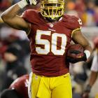 On March 20, Washington Redskins linebacker Rob Jackson was suspended four games by the league for violating its substance abuse policy. The <italics>Washington Post</italics> reported that the failed test might have resulted from Jackson's use of an unprescribed pain medication.