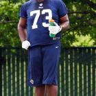 """St. Louis Rams guard Rokevious Watkins was suspended for the first game of the 2013 season due to a violation of the league's substance abuse policy. In defense of his player, coach Jeff Fisher said, """"Personally and respectfully, I disagree with the suspension and the circumstances regarding the suspension."""""""
