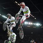 Tristyn Kronk of Australia clears a jump in the Junior Men's division during Day 5 of the UCI BMX World Championships in Auckland, New Zealand.