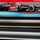 Lotus driver Romain Grosjean of France steers his car during the practice at the Hungaroring racetrack near Budapest on July 26.