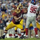 Protecting a rookie quarterback in Robert Griffin III, with one of the most roll-right offenses in the NFL, Chris Chester didn't allow a single sack last season and had just nine blown blocks in 1,032 snaps. The veteran benefitted from the amazing job turned in by offensive line coach Chris Foerster.