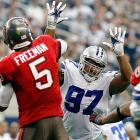 Jason Hatcher was an unrecognized force for Rob Ryan's Cowboys defense, putting up as many quarterback hits (11) as DeMarcus Ware had, and almost as many hurries (20.5 to Ware's 22). As Ware pointed out recently, Hatcher ranked second behind J.J. Watt in quarterback pressures among interior linemen, and if new Cowboys defensive coordinator Monte Kiffin uses Hatcher as a three-technique in a 4-3 front, Hatcher could repeat those numbers.