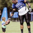 Athletes and their Kids at NFL Camps