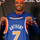 The third overall pick in the 2003 NBA Draft, Carmelo Anthony finally left the Denver Nuggets in 2011 as part of a massive three-team trade involving 13 players, four draft picks and cash. Anthony, along with Renaldo Balkman, Chauncey Billups, Anthony Carter and Shelden Williams, moved to the Knicks, Kosta Koufos and Corey Brewer left the Minnesota Timberwolves for the Nuggets and the Knicks, respectively. The Knicks sent four players, including Raymond Felton and Danilo Gallinari, cash and three draft picks to the Nuggets, and Eddy Curry, Anthony Randolph and cash to the Timberwolves. The Knicks hoped the pairing of Anthony and Amar'e Stoudemire would take them far into the playoffs, but injuries to Stoudemire and Billups hastened a first-round exit.