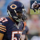 On Aug. 21, Lance Briggs tweeted that his teammate, rookie linebacker Jon Bostic, had been fined $21,000 by the NFL for his hit on Chargers wide receiver Mike Willie in Week 2 of the preseason. Although Bostic appeared to lead with his helmet, he did wrap his arms around for the tackle, and there was no flag on the play. The league has not yet confirmed the fine, which would represent more than five percent of Bostic's $405,000 annual salary.
