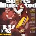 "The future of the NFL meets the past on the covers of this week's Sports Illustrated. In 2012, Robert Griffin III, Andrew Luck, Colin Kaepernick and Russell Wilson took the league by storm. This week's issue of SI features a four-cover regional series comparing each of the young quarterbacks to a past Super Bowl champion, showing ways in which the past could be prologue. Before suffering a season-ending knee injury in the playoffs, RGIII terrorized defenses with his unique combination of speed and arm strength. MMQB.com staff writer Jenny Vrentas writes that just because RGIII was ""born to run,"" doesn't mean he can't become an all-time gunslinger like John Elway."