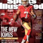 The future of the NFL meets the past on the covers of this week's Sports Illustrated. In 2012, Robert Griffin III, Andrew Luck, Colin Kaepernick and Russell Wilson took the league by storm. This week's issue of SI features a four-cover regional series comparing each of the young quarterbacks to a past Super Bowl champion, showing ways in which the past could be prologue. Kaepernick transformed the 49ers after taking over for Alex Smith midway through the season, leading them within yards of a Super Bowl title. SI senior writer Austin Murphy details why Kaepernick is the new Steve Young, a Bay Area legend who won three Super Bowls in his career.