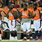 Von Miller (18.5 sacks last season) will miss the first six games of the season because of a suspension, and Elvis Dumervil (11) is now in Baltimore. Peyton Manning can do a lot of things, but he can't rush the opposing teams' passers.