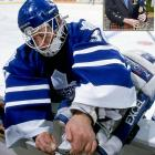 During the 2000 offseason, goalie Glenn Healy of the Maple Leafs slipped while cutting the bag off his bagpipes, lacerated his hand, and needed stitches to close the wound.