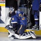 It was a banner year for freak injuries. Not only did 2008 claim Erik Johnson (golf cart) and Joe Sakic (snowblower), but Blues goalie Manny Legace hurt his hip when he fell after slipping on a carpet that had been laid out on the ice in St. Louis for Republican vice presidential nominee Sarah Palin, who was on hand to drop the ceremonial first puck before a game on October 24. Legace played the first period, but had to leave the game when the injury started to act up.