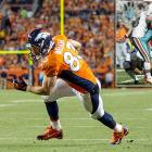 Before he was a key cog in the Patriots -- and now Broncos -- machine, Welker was a jack of all trades with the Dolphins. Not only did he return a kickoff for a touchdown, but also he kicked a 29-yard field goal and two extra points when the Dolphins regular kicker was unable to play. He also has a two-point conversion to his credit and 42 receiving touchdowns.