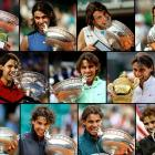 With his second U.S. Open victory in four years, Rafael Nadal has won 13 Grand Slam titles, passing Roy Emerson for third among the all-time leaders. What follows is a look at each of his major victories -- one Australian Open, eight French Opens, two Wimbledons, and two U.S. Opens.