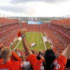 Broncos fans cheer the opening of the NFL season from within Sports Authority Field at Mile High before Denver's 49-27 defeat of the Super Bowl champion Ravens on Sept. 5.