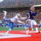 """The Bills trailed the Oilers 35-3 just after halftime in the Wild Card game now known as """"The Comeback."""" It looked like Buffalo's quest for a third straight Super Bowl appearance would end in the first round. But Frank Reich threw four second-half touchdowns, including three to Andre Reed, and the Bills won 41-38 in overtime. Buffalo's victory remains the largest comeback in NFL history."""