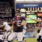 The two-time defending AFC South champions Houston Texans found themselves trailing San Diego 28-7 at halftime of their 2013 opener, but reeled the Chargers back in. Linebacker Brian Cushing returned an interception for a touchdown to help key the comeback. Kicker Randy Bullock drilled a 41-yard kick as time expired to finish the 31-28 win.