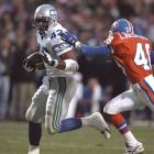 Running back Chris Warren made his third straight Pro Bowl in 1995, and he was the key to Seattle's come-from-behind win. He scored twice -- including the go-ahead score -- as the Seahawks turned a 20-0 deficit to a 31-27 win. The Seahawks almost matched this comeback against Atlanta in last year's postseason, but Russell Wilson's heroics came up short in a 30-28 loss.