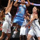 """The 6'1"""" guard-forward leads the league in scoring (21.8 ppg) and steals (2.8) while also contributing 5.5 rebounds and 4.7 assists. Despite of rash of injuries to other key player, McCoughtry still led the Dream to a second-place finish in the conference and a fifth-straight playoff berth?one for each year she's been in the league."""