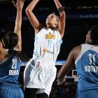 """The leader in almost every statistical category among first year players, she's a lock to win rookie-of-the-year honors and the 6'5"""" forward could be the first player since Candace Parker in 2008 to also win MVP honors. Delle Donne has been a dominant offensive force, averaging 18.3 points and hitting 44.9% of her three-pointers and 92.5% of her free-throws. She even hit a buzzer-beating jumper in a win over Phoenix last week. Chicago had never made the playoffs before this year?with Delle Donne they clinched the top record in the East."""