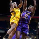 """While it's true that an improvement would be expected in the 5'7"""" guard's second season, Williams has become a more accurate shooter, which has helped increase her average to 15.9 ppg from 10.5 last season. She also set a WNBA single-game record with 51 points with a 98-65 win over the Silver Stars."""