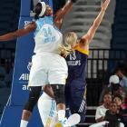 """While Angel McCoughtry also deserves to be mentioned in this category, the 6'6"""" Fowles ranks second in the league in blocks (2.5) and alters many more shots. She was also named the league's top defender in 2011."""