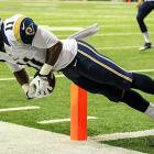 St. Louis Rams rookie wideout Tavon Austin was ruled to have gotten both feet inbounds against the Falcons.