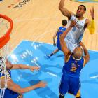 Iguodala went to the Warriors from the Nuggets in a trade in the offseason.