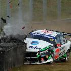 Just like this week's installment, Ash Walsh comes to a rather abrupt stop in his Ford during Round 10 of the V8 Supercar Championship Series at Sandown International Motor Raceway in Melbourne, Australia.