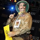 Adam Scott rocked the Mad-Eye Moody look while competing in the Imperial Mustache division at The House of Blues in New Orleans.