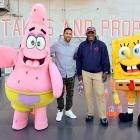 Terrell Thomas, Harry Carson, and two new members of the comically inept 0-3 Giants' defense provided some laffs at the big event on The Intrepid in New York City.