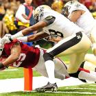 Alfonso Smith scored the only touchdown of the day for the Arizona Cardinals on this leap in front of Rod Sweeting.